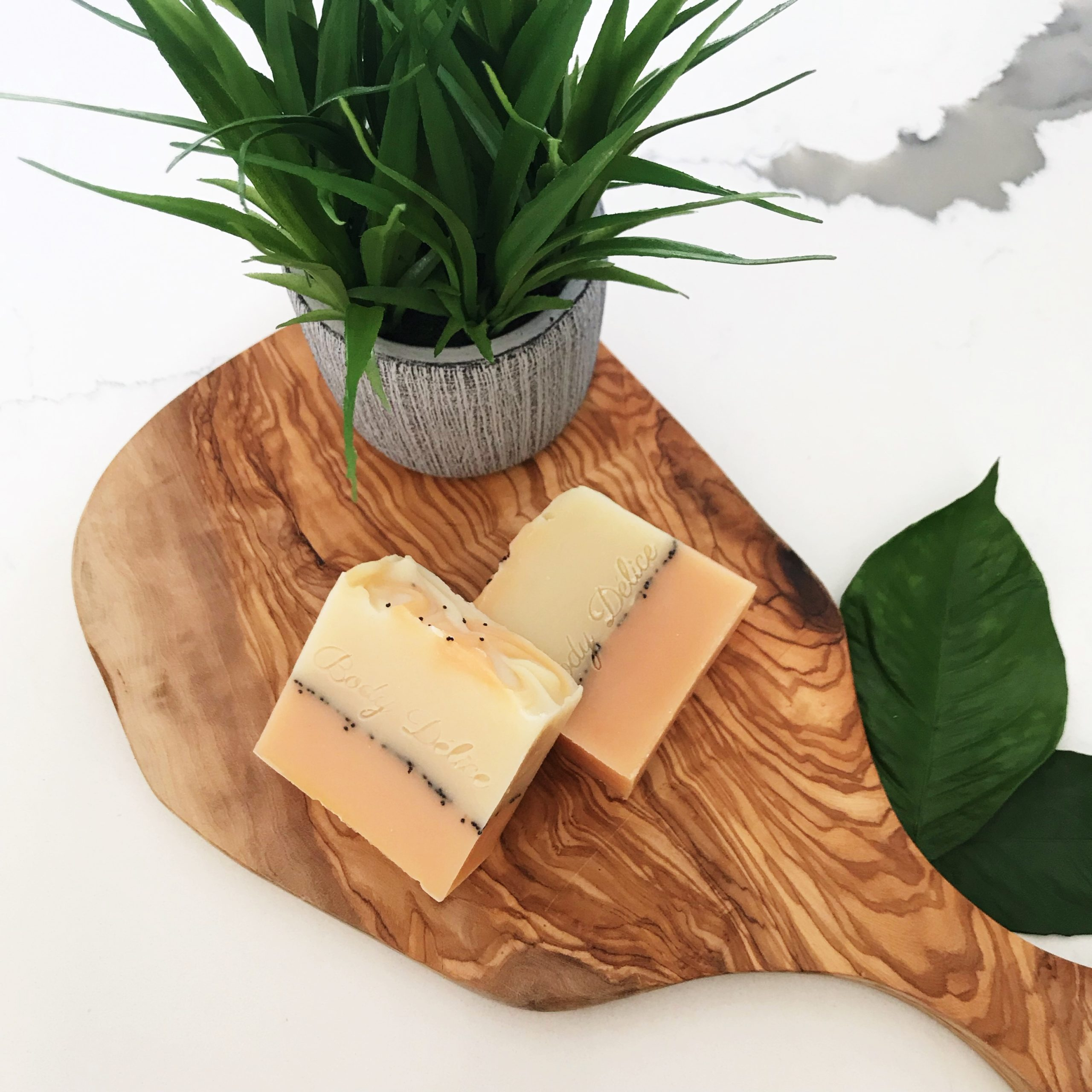 soap bar with poppy seeds