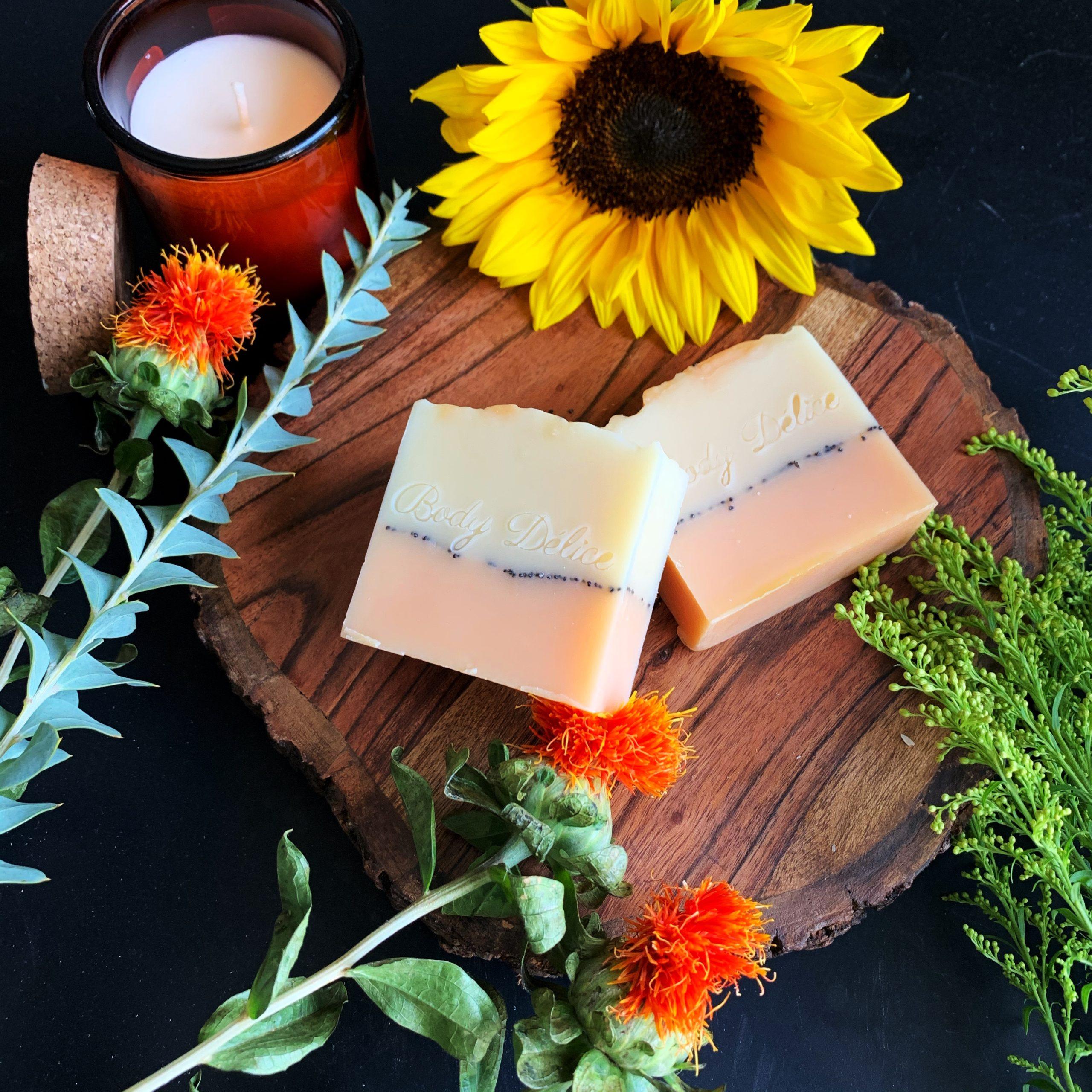 Essential oils soap bar